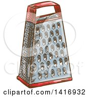 Clipart Of A Sketched Grater Royalty Free Vector Illustration by Vector Tradition SM