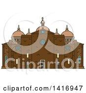 Clipart Of A Sketched Italian Landmark Basilica Of Santa Giustina In Padua Royalty Free Vector Illustration
