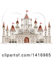Clipart Of A Castle Royalty Free Vector Illustration by Vector Tradition SM