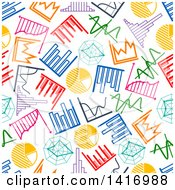 Poster, Art Print Of Seamless Background Pattern Of Charts And Graphs