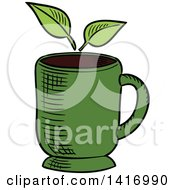 Poster, Art Print Of Sketched Tea Cup