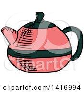 Poster, Art Print Of Sketched Tea Pot