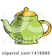 Sketched Tea Pot