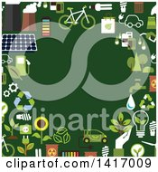 Clipart Of A Border Of Green Energy Icons Royalty Free Vector Illustration by Vector Tradition SM