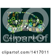 Clipart Of A Car Formed Of Green Energy Icons Royalty Free Vector Illustration
