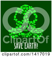 Clipart Of A Gas Mask Made Of Trees With Save Earth Text Royalty Free Vector Illustration