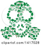 Clipart Of A Gas Mask Made Of Trees Royalty Free Vector Illustration