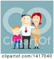 Clipart Of A Flat Design Style Family Royalty Free Vector Illustration by Vector Tradition SM