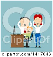 Clipart Of Flat Design Style Parents Discovering Their Son Doing Inappropriate Things On A Computer Royalty Free Vector Illustration by Vector Tradition SM