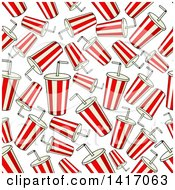 Clipart Of A Seamless Background Pattern Of Sodas Royalty Free Vector Illustration