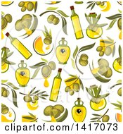Seamless Background Pattern Of Olives