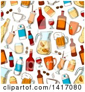 Clipart Of A Seamless Background Pattern Of Alcohol Royalty Free Vector Illustration by Seamartini Graphics