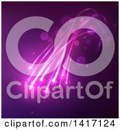 Clipart Of A Background Of Purple Lights Royalty Free Vector Illustration