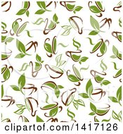 Clipart Of A Seamless Background Pattern Of Tea Royalty Free Vector Illustration by Seamartini Graphics