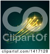 Clipart Of A Background Of Golden Lights Royalty Free Vector Illustration