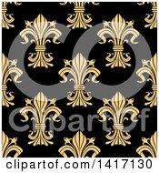 Seamless Background Pattern Of Fleur De Lis