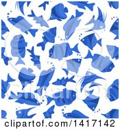 Clipart Of A Seamless Background Pattern Of Fish Royalty Free Vector Illustration by Seamartini Graphics