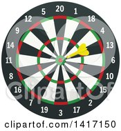 Clipart Of A Dart Board Royalty Free Vector Illustration