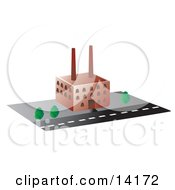 Factory Building Clipart Illustration
