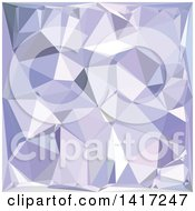 Clipart Of A Low Poly Abstract Geometric Background In Lavender Royalty Free Vector Illustration