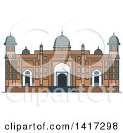 Clipart Of A Bangladesh Landmark Lalbagh Fort Royalty Free Vector Illustration by Vector Tradition SM