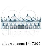 Clipart Of A Bangladesh Landmark Star Mosque Royalty Free Vector Illustration