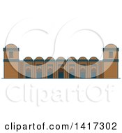 Clipart Of A Bangladesh Landmark Sixty Dome Mosque Royalty Free Vector Illustration