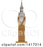 Clipart Of A Great Britain Landmark Big Ben Royalty Free Vector Illustration by Vector Tradition SM