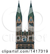 Clipart Of A German Landmark St Peter Cathedral Royalty Free Vector Illustration by Vector Tradition SM