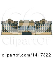 Clipart Of A German Landmark Pergamon Museum Royalty Free Vector Illustration