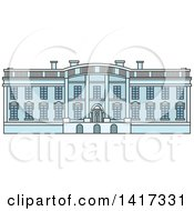 Clipart Of A American Landmark White House Royalty Free Vector Illustration by Vector Tradition SM