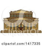 Clipart Of A Landmark Bolshoi Theatre Royalty Free Vector Illustration by Vector Tradition SM