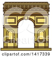 Clipart Of A Landmark Arch Of Triumph Royalty Free Vector Illustration