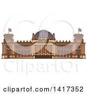 Clipart Of A German Landmark Reichstag Royalty Free Vector Illustration by Vector Tradition SM