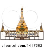 Clipart Of A Burma Landmark Bagan Royalty Free Vector Illustration by Vector Tradition SM