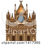 Clipart Of A Italian Landmark Siena Cathedral Royalty Free Vector Illustration