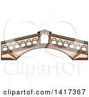 Clipart Of A Italian Landmark Rialto Bridge Royalty Free Vector Illustration by Vector Tradition SM