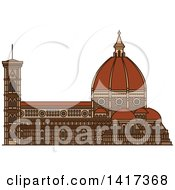 Clipart Of A Italian Landmark Florence Cathedral Royalty Free Vector Illustration by Vector Tradition SM