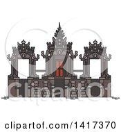 Clipart Of A Landmark Petitenget Temple Royalty Free Vector Illustration