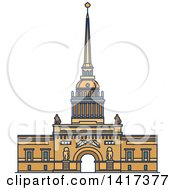 Clipart Of A Russian Landmark Admiralty Royalty Free Vector Illustration