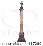 Clipart Of A Russian Landmark Alexander Column Royalty Free Vector Illustration