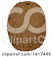 Clipart Of A Sketched Kiwi Fruit Royalty Free Vector Illustration