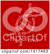 Clipart Of A Dna Strand Made Of Medical Icons On Red Royalty Free Vector Illustration