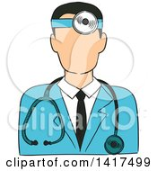 Clipart Of A Male Doctor Avatar Royalty Free Vector Illustration by Vector Tradition SM