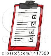 Clipart Of A Medical Chart Royalty Free Vector Illustration