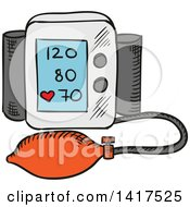 Clipart Of A Blood Pressure Monitor Royalty Free Vector Illustration