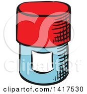 Clipart Of A Pill Bottle Royalty Free Vector Illustration by Vector Tradition SM