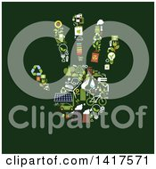 Poster, Art Print Of Hand Formed Of Green Energy Icons