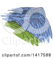 Clipart Of A Sketched American Landmark Niagara Falls Royalty Free Vector Illustration by Vector Tradition SM