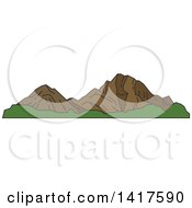 Clipart Of A Sketched American Landmark Rocky Mountains Royalty Free Vector Illustration by Seamartini Graphics